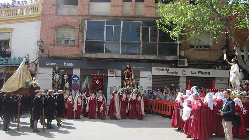 La Semana Santa de Villacañas se cerró con la Procesión del Encuentro