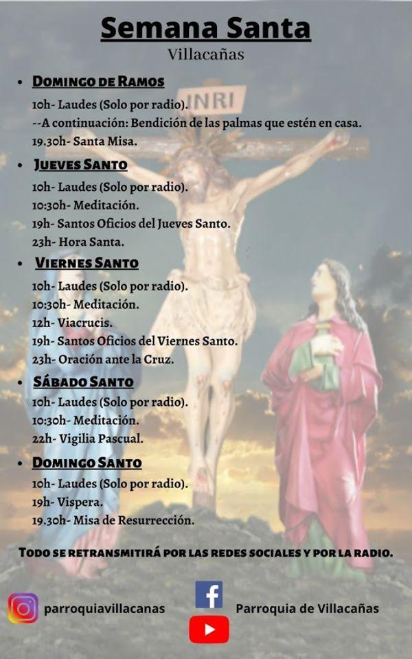 Villacañas vivirá los días grandes de la Semana Santa desde casa